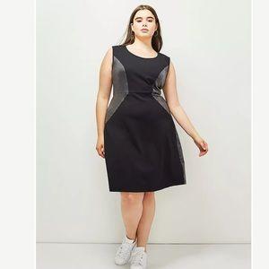 6th and Lane spliced ponte dress